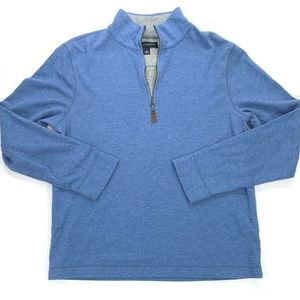 1/2 Zip Blue Pullover Sweatshirt